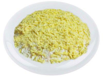 Слоенный грибной салат