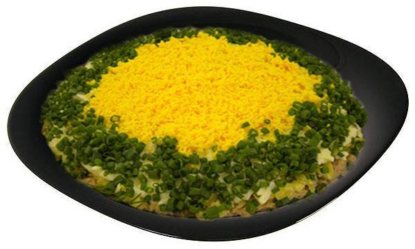 mimoza 2 Рецепт салата мимоза с сыром