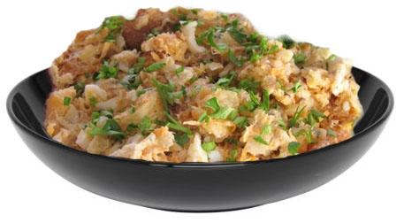 салат с кириешками и консервой рецепт