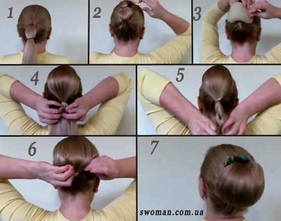 Как сделать бабетту с валиком (инструкция)